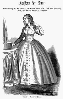 Photograph - Womens Fashion, 1864 by Granger