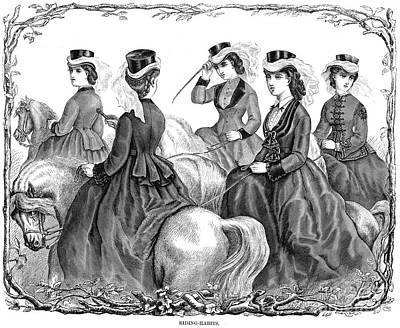 Equestrian Fashion Photograph - Womens Fashion, 1870 by Granger