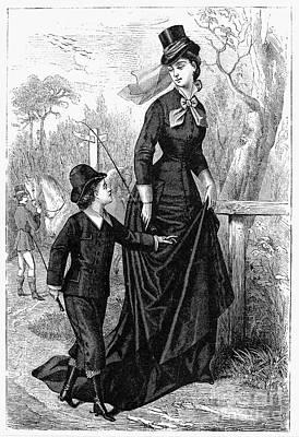 Womens Fashion, 1876 Art Print