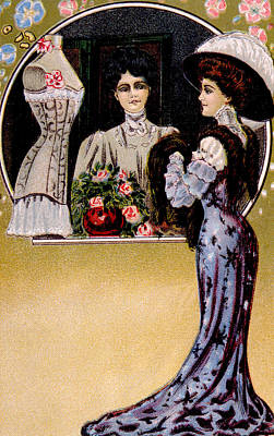 Womens Fashion, As Depicted In A 1909 Art Print