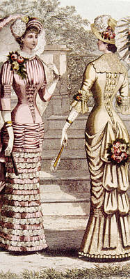 Womens Fashion, Circa 1880s Art Print by Everett