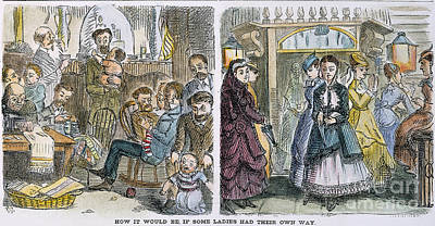 Womens Rights, 1868 Art Print by Granger
