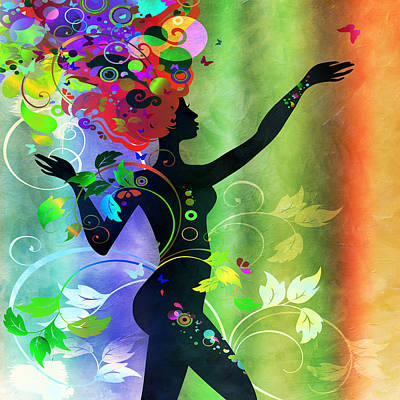 Digital Art - Wonderful 2 by Angelina Vick