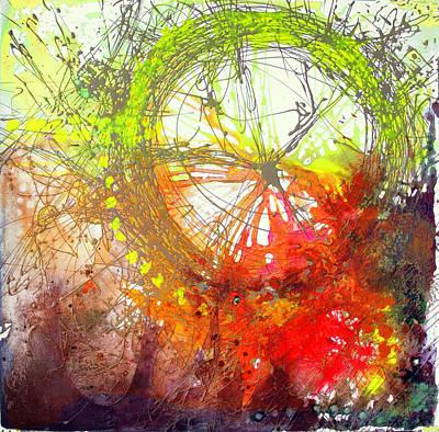 Art Print featuring the painting Wonderweel In Sunset by Lolita Bronzini