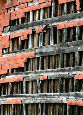 Photograph - Wood And Shingles Abstract by Karon Melillo DeVega
