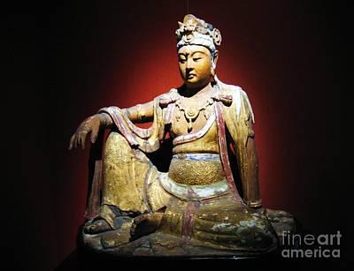 Bodhisattva Painting - Wood Bodhisattva by Pg Reproductions
