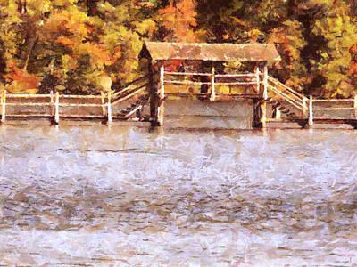 Painting - Wood Bridge At Chickasaw by Jai Johnson