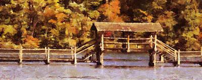 Painting - Wood Bridge At Chickasaw Long Version by Jai Johnson