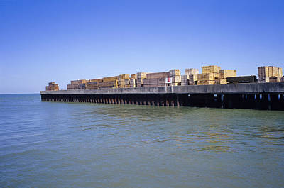 Port Kent Photograph - Wood Cargo by Carlos Dominguez