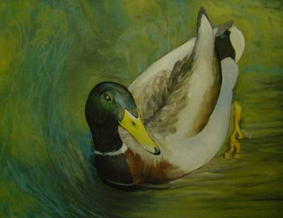 Painting - Wood Duck In Halfway Brook by Mark Haley