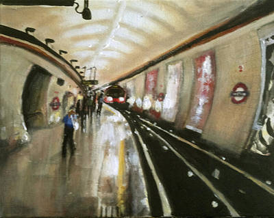 Wood Green Tube Station Art Print by Paul Mitchell