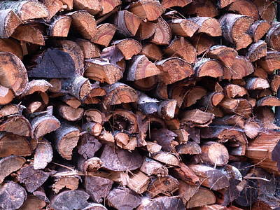 Photograph - Wood Pile by Katherine Huck Fernie Howard