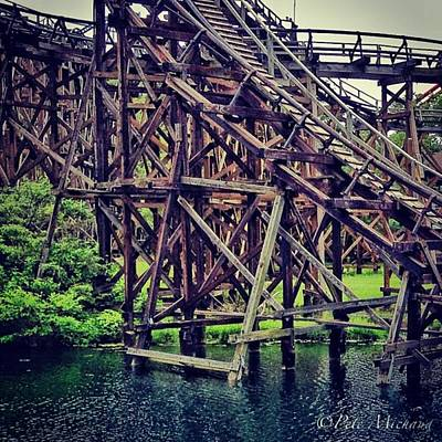 Iphone 4s Photograph - Wooded #rollercoaster At #cedarpoint In by Pete Michaud