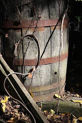 Metamora Photograph - Wooden Barrel by Mike Lytle