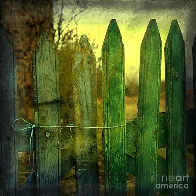 Wooden Barrier Art Print by Bernard Jaubert
