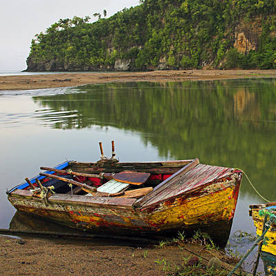 Photograph - Wooden Boat- St Lucia by Chester Williams
