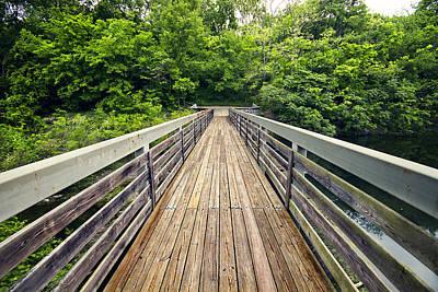 Y120831 Photograph - Wooden Bridge by Malcolm MacGregor