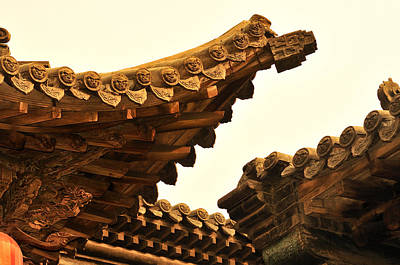 Carving Photograph - Wooden Carving In Qiao Courtyard, Shanxi by Huang Xin
