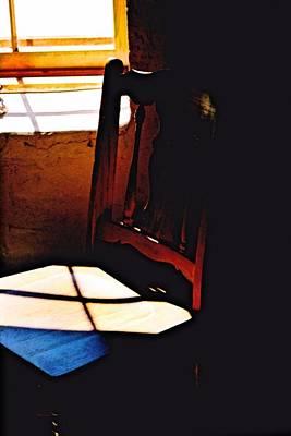 Brunch Digital Art - Wooden Chair In Light by Jennifer Choate