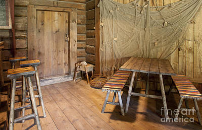Netting Photograph - Wooden Dining Room by Jaak Nilson