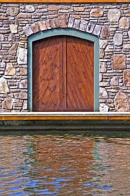 Wooden Door Art Print by Susan Leggett