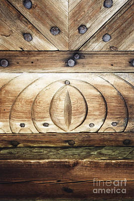 Photograph - Wooden Doors Detail by Agnieszka Kubica