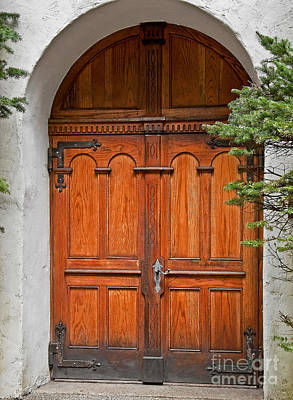 Photograph - Wooden Double Doors Archway by Valerie Garner
