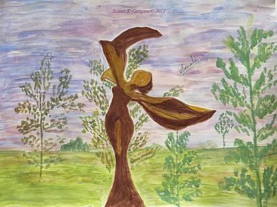 Enchantress Painting - Wooden Femme by Sonali Gangane