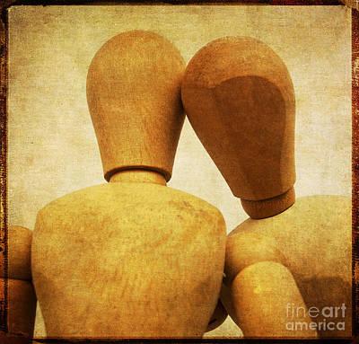 Wooden Figurines Art Print by Bernard Jaubert