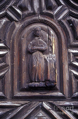 Photograph - Wooden Friar San Miguel De Allende Mexico by John  Mitchell