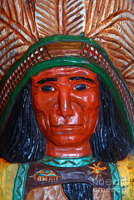 Photograph - Wooden Indian Statue . 7d13538 by Wingsdomain Art and Photography