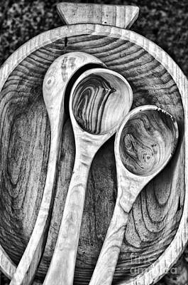 Photograph - Wooden Ladles by Silvia Ganora