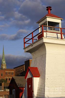 Photograph - Wooden Lighthouse Saint John New Brunswick by John  Mitchell