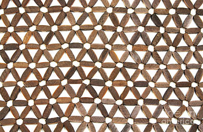 Wooden Pattern Art Print by Blink Images