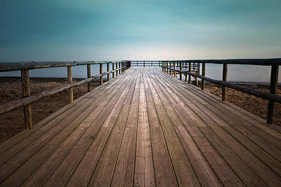 Wooden Pier Art Print by Christian Callejas