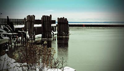 Nirvana - Wooden Pier Pilones  by Ms Judi