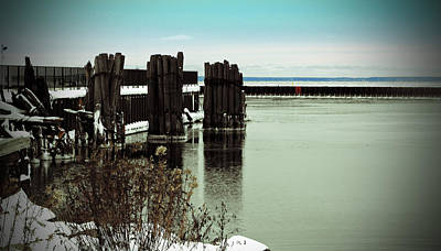 Photograph - Wooden Pier Pilones  by Ms Judi