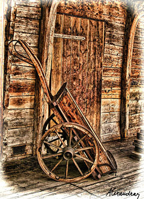 Photograph - Wooden Pushcart  by Alexandra Jordankova