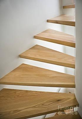 Wooden Spiral Staircase Art Print by Noam Armonn