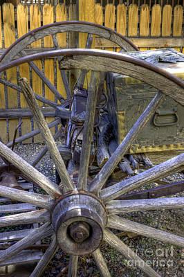 Wooden Farm Wagon Photograph - Wooden Spokes by David Bearden