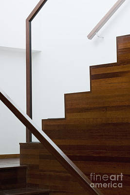 Wooden Staircase Art Print by Shannon Fagan