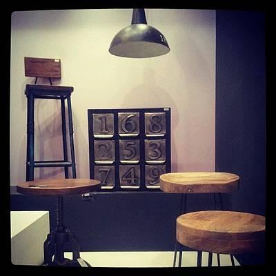 Steel Photograph - #wooden #stool #steel #numbers #blocks by Doris Burh