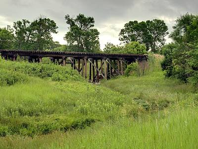 Photograph - Wooden Train Trestle by HW Kateley