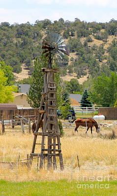 Photograph - Wooden Windmill by Pamela Walrath