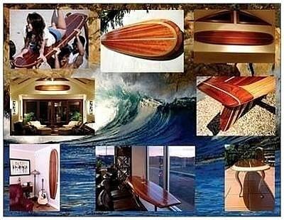 Malibu Mixed Media - Woodensurfboardscom by Erik Hurst