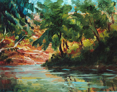 Woodland Stream Art Print by Ethel Vrana