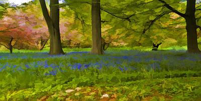 Woodland Watercolour Art Print by Trevor Kersley