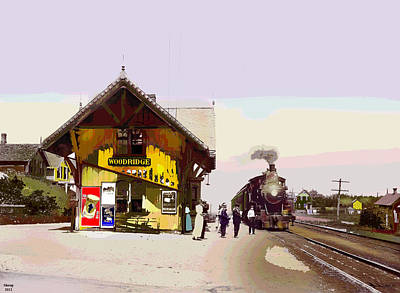Woodridge Depot Art Print by Charles Shoup