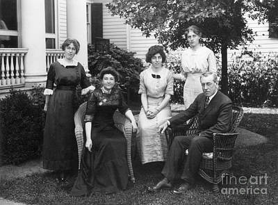 Bolling Photograph - Woodrow Wilson Family by Granger