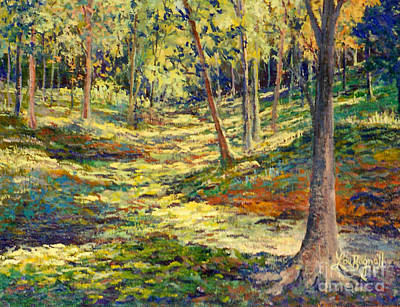 Painting - Woods In Ohio by Lou Ann Bagnall